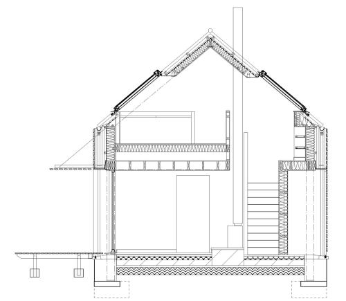 House at Tokavaig - Section