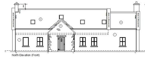 House at Swinford, Elevation