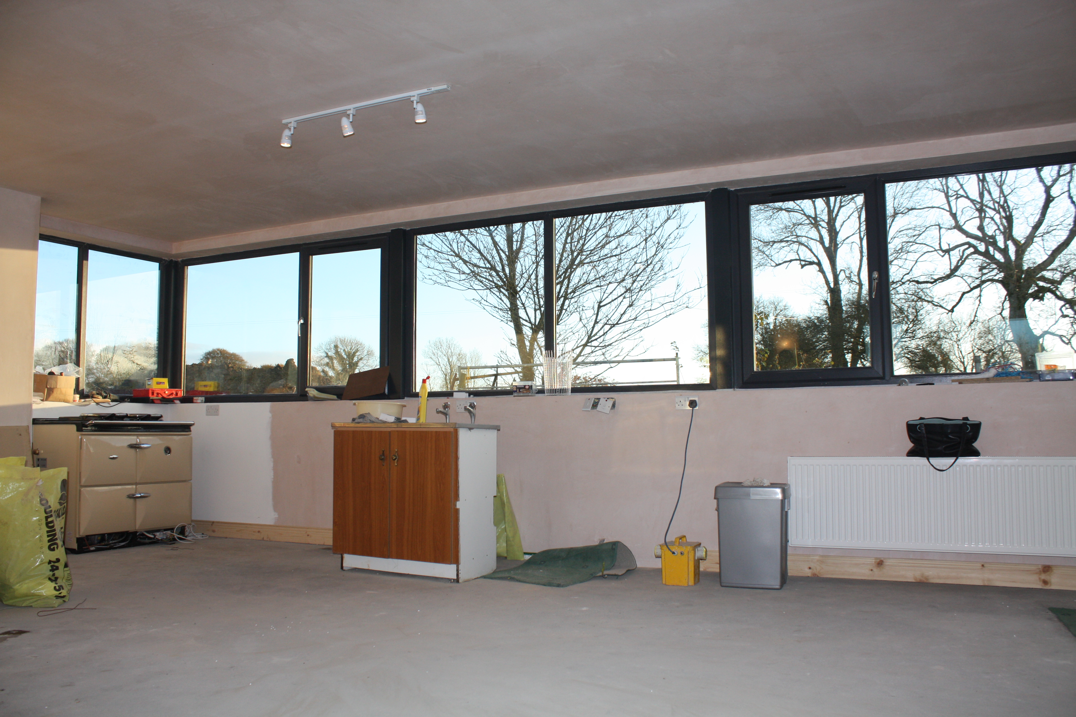 Kitchen on this contemporary extension to traditional 2 storey ...