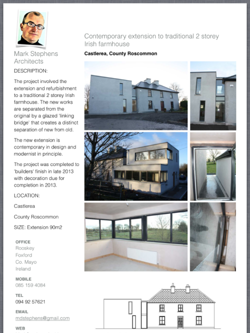 Tear Sheet on modern extension