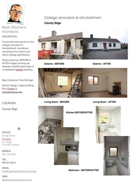Tear Sheet on Sligo refurbishment